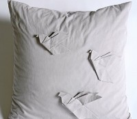 Origami Pigeon Pillow