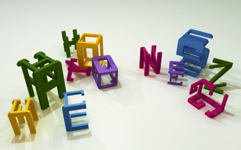 marcus schaefer was trying to create a typographic toy to show children different types of fonts the 3 dimensional letters consist of three very different