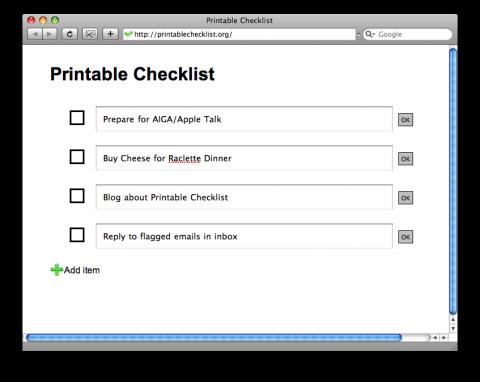 Printable Checklist