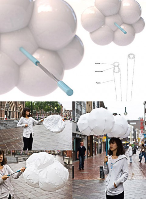 Inflatable White Umbrella