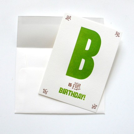 B is for Birthday
