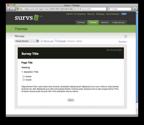 survs   a survey application