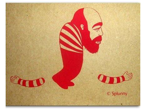 Armless postcard