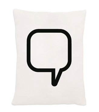 Speech Bubble Pillow