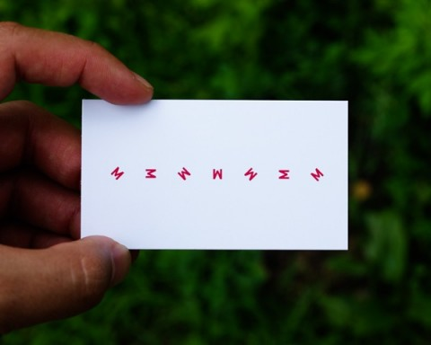 Motion Graphic Designer Business Card