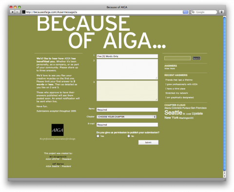 Because of AIGA