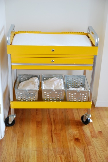 What A Cool Changing Table, No? Itu0027s Been Created Using An Inexpensive  Car Tools Cart By Sunex Tools. In Addition To Looking Great, Itu0027s On Wheels  Which ...
