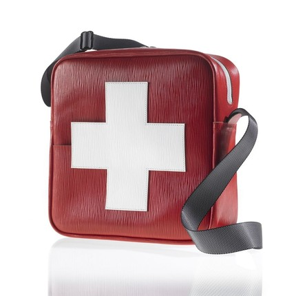 swiss cross flight bag
