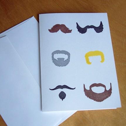 Les Moustaches Single Notecard