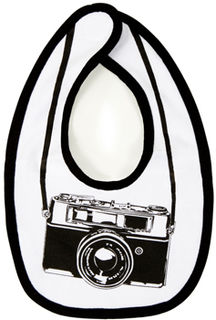 camera baby bib