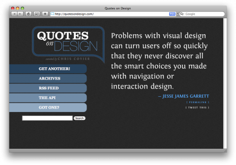 Quotes on Design · Quotes on Design. Curated by Chris Coyier.