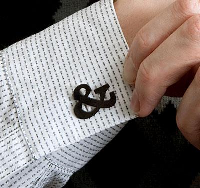 ampersand cufflink