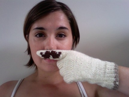 moustache gloves
