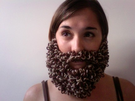 Knitted Loopy Beard