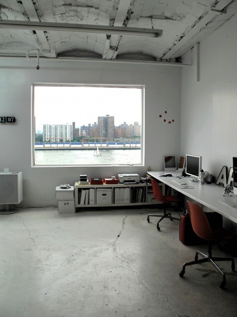 view out of swissmiss studio
