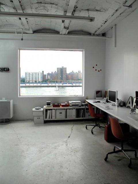 view out of swissmiss studio