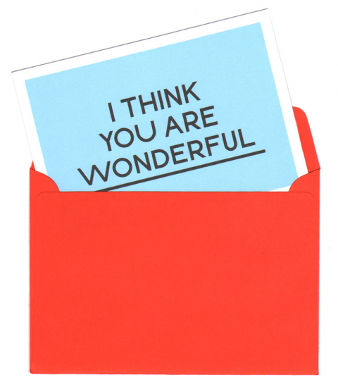I think you are wonderful