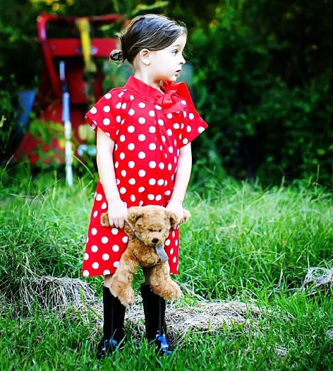 Red Polka Bow Dress