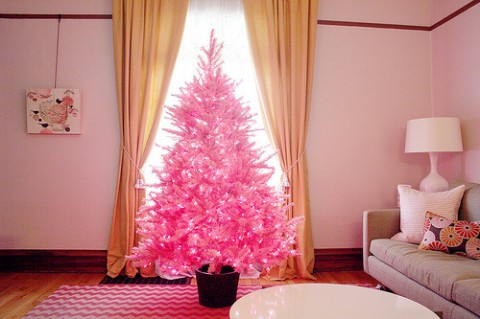 pink christmas tree