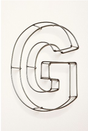 "Wire Frame 10"" Letters"