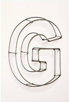 swissmiss | Wire Frame Letters