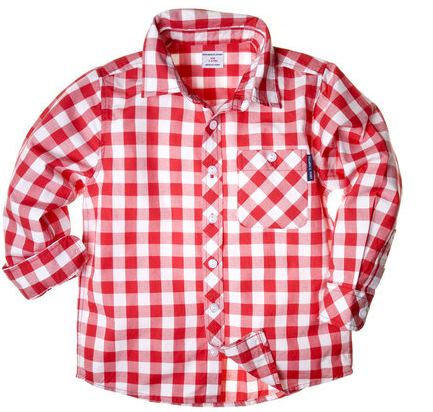 Swissmiss happy check button down for Awesome button down shirts