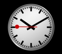 swiss railway clock app