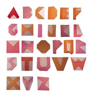swissmiss origami typeface