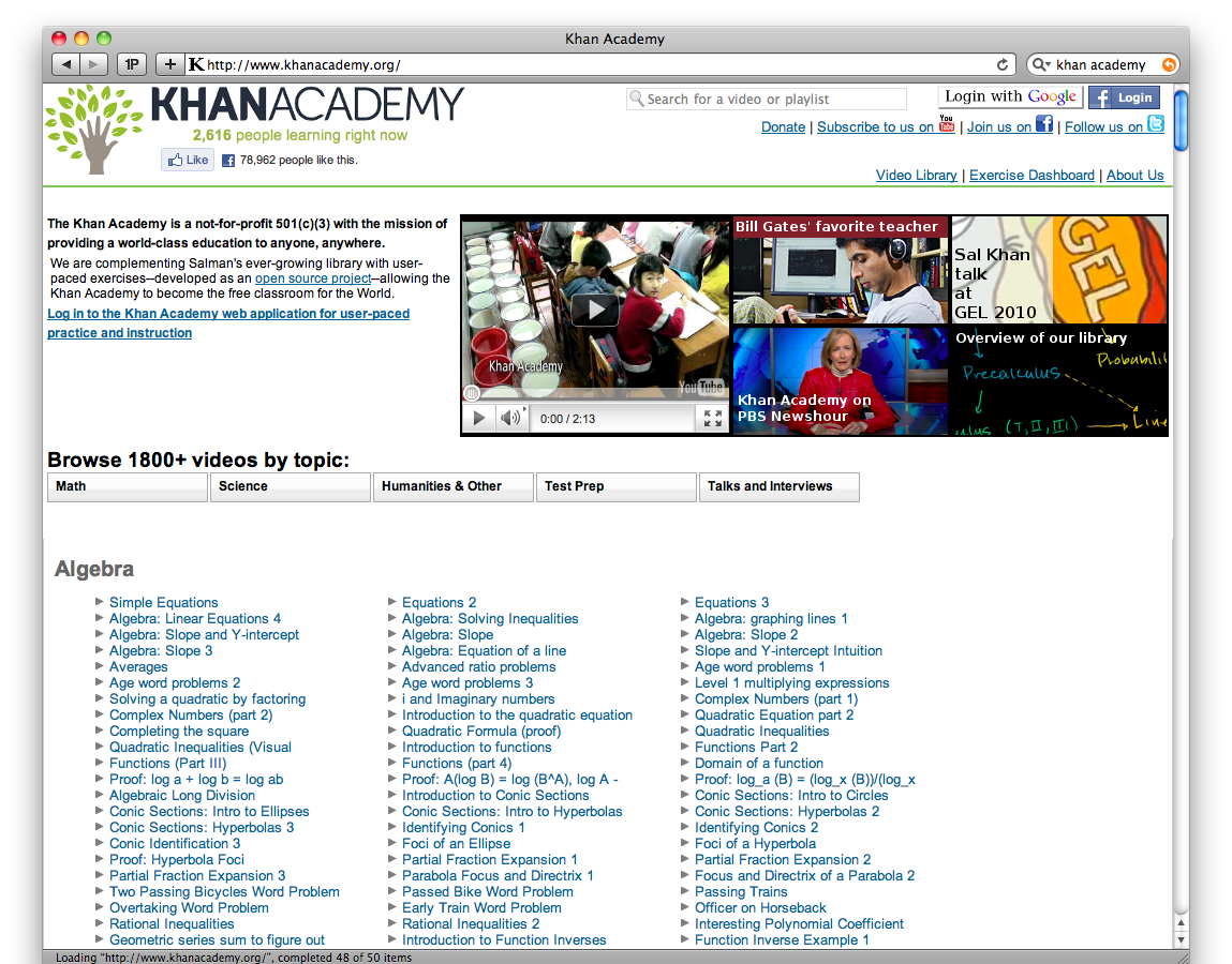 redesigning the khan academy teacher toolkit Great for mentors, teachers, and others working with youth in groups or even one-on-one growth mindset lesson plan - by khan academy and perts.