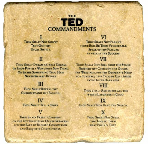 how to give a talk ted