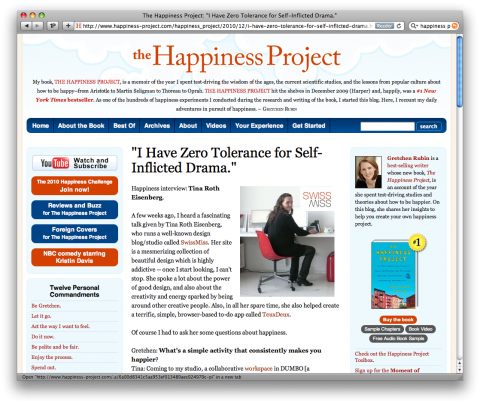 happiness project toolbox The happiness project toolbox what tools for happiness in detail gretchen rubin, of the happiness project fame, created this sister website, which offers tools, tips, group chat room and online-based features to help users be happier.