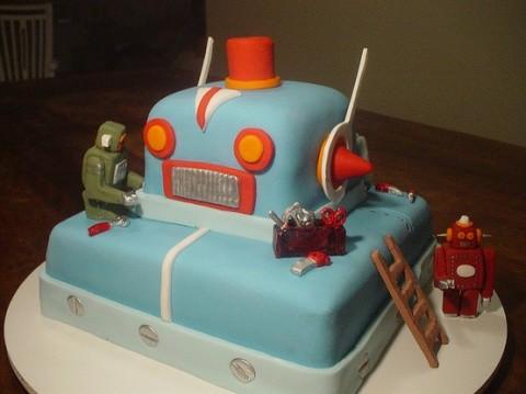 Swissmiss Robot Cake