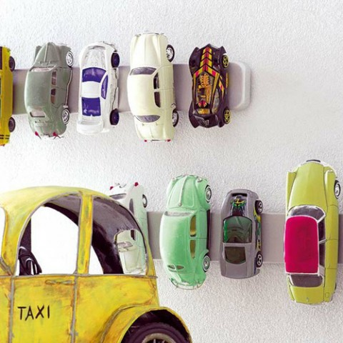 What A Supercool Idea (IKEA Hack) For Storing Toy Cars. Magnetic Knife  Holder Gone Toy Storage.