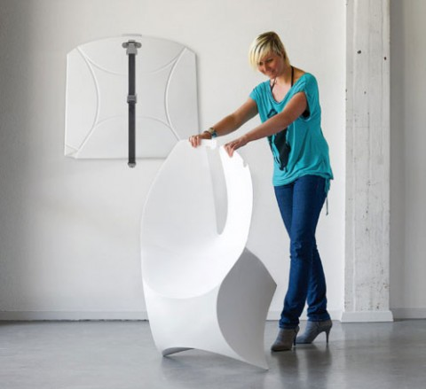 Foldable Chair Inspired By Paper Sculptures