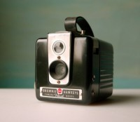 Vintage Camera. Bakelite Kodak Brownie Hawkeye