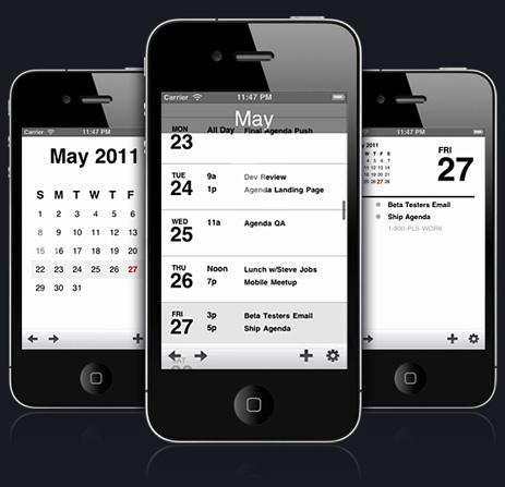 Iphone agenda app free