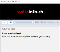 creativemornings podcast on siwssinfo.ch