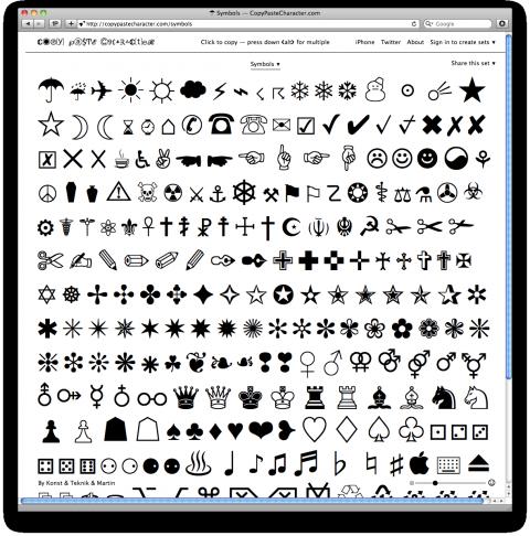 Black paste and white emoji copy ♡ White