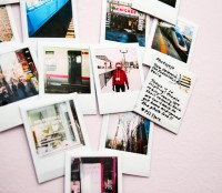 polaroid postcards