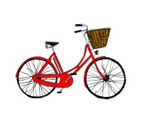 red bike tatty