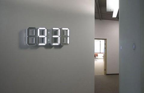 Swissmiss white white clock - Led a pile pour deco ...