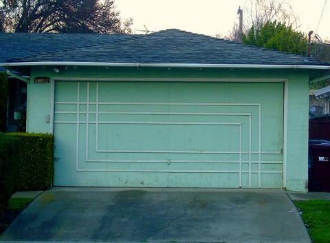 Swissmiss the mid century garage door for Mid century modern garage