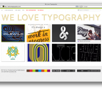 we love typography