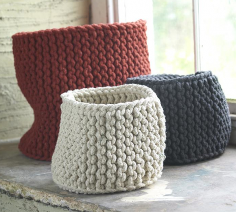 swissmiss Hand Knitted Rope Baskets