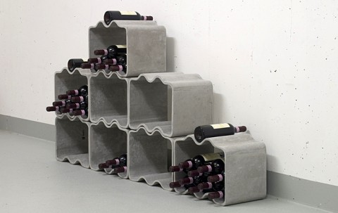Love this stackable, modular wine rack by Thing. Makes me want to have a  wine cellar in my basement.