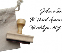 Return Address Stamp with Custom Calligraphy