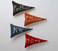 Home Team Pennant Pillows