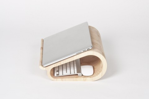 Swissmiss vool the wooden laptop stand - Lifta desk organizer ...