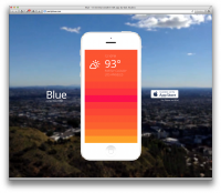 blue weather app