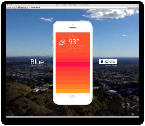 blue weather app